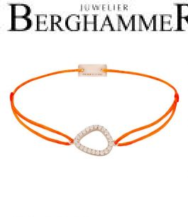 Filo Armband Textil Neon-Orange Fashion 925 Silber roségold vergoldet 21204781