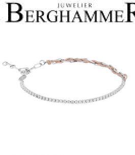 Unico Armband Beige Zirkonia weiß 925 Silber rhodiniert 21700024