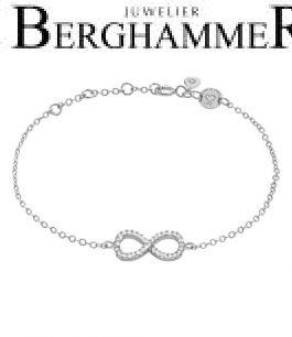 LaViida Armband Infinity 925 Silber rhodiniert BLU603RH