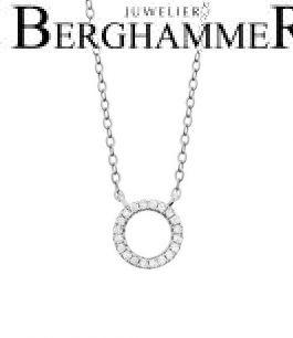 LaViida Halskette Kreis 925 Silber rhodiniert NLU601RH