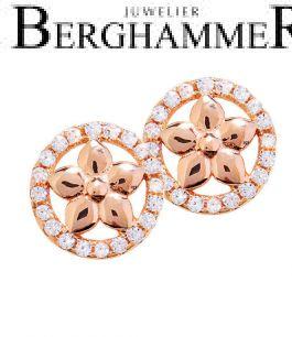 LaViida Ohrschmuck Blume 925 Silber roségold vergoldet ELU613RG