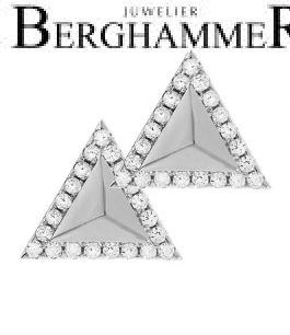 LaViida Ohrschmuck Dreieck 925 Silber rhodiniert ELU614RH