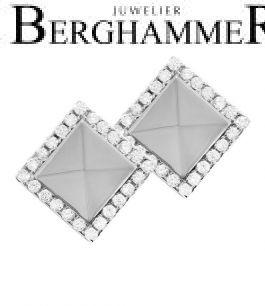 LaViida Ohrschmuck Quadrat 925 Silber rhodiniert ELU615RH