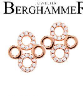 LaViida Ohrschmuck Filigran 925 Silber roségold vergoldet ELU618RG