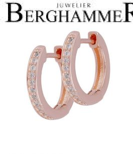 LaViida Creolen 925 Silber roségold vergoldet ELU690RG 40500066