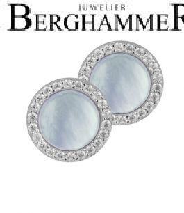 LaViida Ohrschmuck Perlmutt 925 Silber rhodiniert ELU633RH 40500067