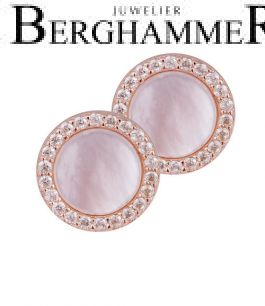 LaViida Ohrschmuck Perlmutt 925 Silber roségold vergoldet ELU633RG 40500068