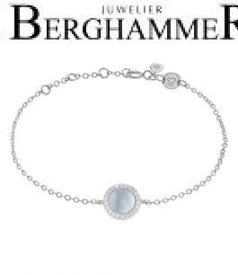 LaViida Armband Perlmutt 925 Silber rhodiniert BLU633RH 40500069