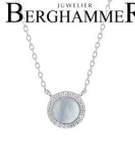 LaViida Halskette Perlmutt 925 Silber rhodiniert NLU633RH 40500071