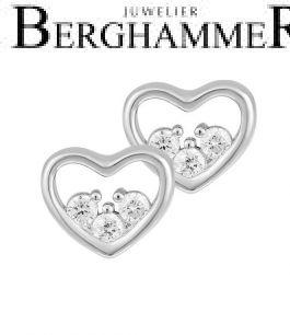 LaViida Ohrschmuck Herz 925 Silber rhodiniert ELU635RH 40500079