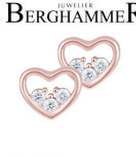 LaViida Ohrschmuck Herz 925 Silber roségold vergoldet ELU635RG 40500080
