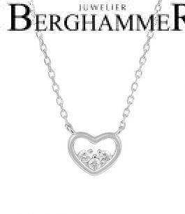 LaViida Halskette Herz 925 Silber rhodiniert NLU635RH 40500083