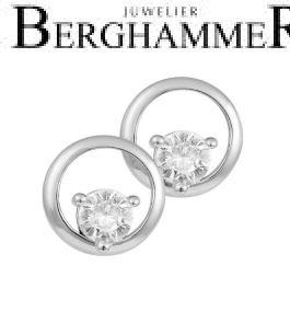 LaViida Ohrschmuck Kreis 925 Silber rhodiniert ELU636RH 40500085