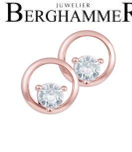 LaViida Ohrschmuck Kreis 925 Silber roségold vergoldet ELU636RG 40500086