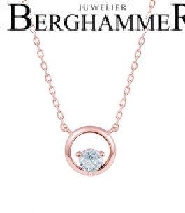 LaViida Halskette Kreis 925 Silber roségold vergoldet NLU636RG 40500090
