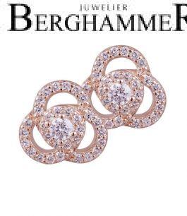 LaViida Ohrschmuck Flower 925 Silber roségold vergoldet ELU638RG 40500094
