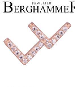 LaViida Ohrschmuck Light 925 Silber roségold vergoldet ELU639RG 40500096