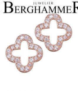 LaViida Ohrschmuck Cloverleaf 925 Silber roségold vergoldet ELU640RG 40500098