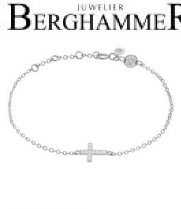LaViida Armband Kreuz 925 Silber rhodiniert BLU637RH 40500099