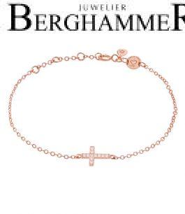 LaViida Armband Kreuz 925 Silber roségold vergoldet BLU637RG 40500100