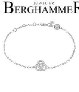 LaViida Armband Flower 925 Silber rhodiniert BLU638RH 40500101