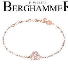 LaViida Armband Flower 925 Silber roségold vergoldet BLU638RG 40500102