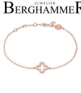 LaViida Armband Cloverleaf 925 Silber roségold vergoldet BLU640RG 40500106