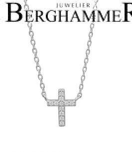 LaViida Halskette Kreuz 925 Silber rhodiniert NLU637RH 40500109