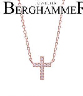 LaViida Halskette Kreuz 925 Silber roségold vergoldet NLU637RG 40500110