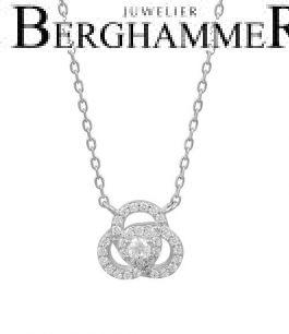 LaViida Halskette Flower 925 Silber rhodiniert NLU638RH 40500111