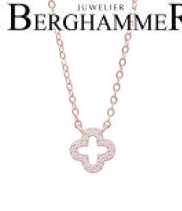 LaViida Halskette Cloverleaf 925 Silber roségold vergoldet NLU640RG 40500116