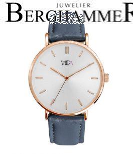LaViida Damenuhr Vienna Roségold Pastellblau WVI2016R 41100058