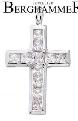 Anhänger 925 Silber Rhodiniert Kreuz SKE01