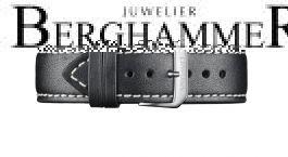 Davosa Schwarzes Kalbsleder Band 22mm 169.004.55