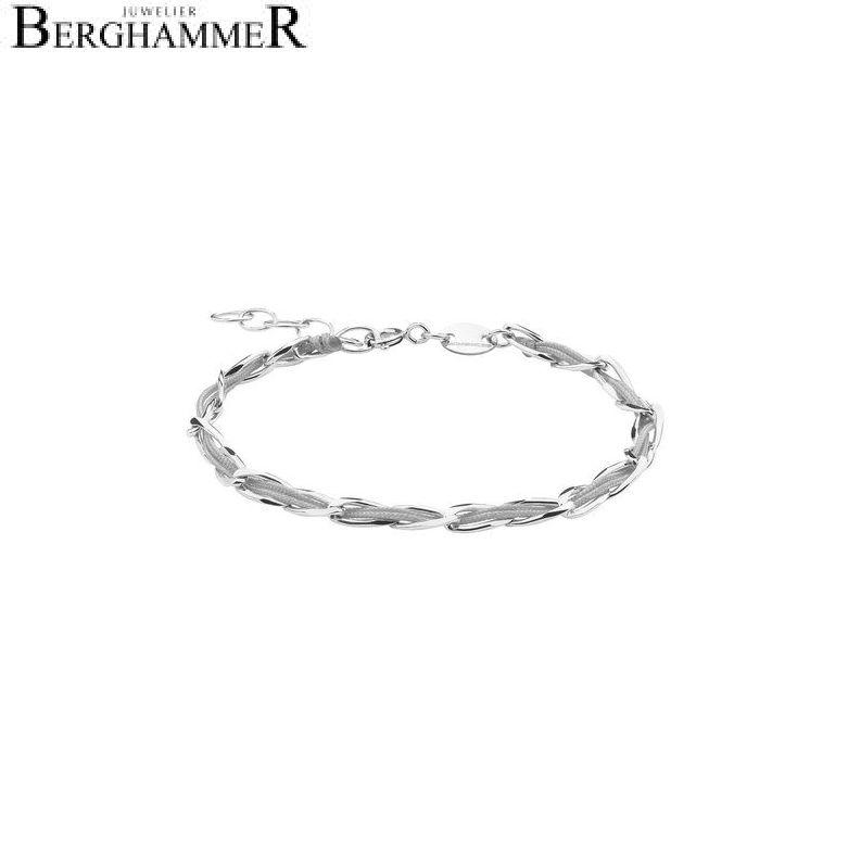 Unico Armband Hellgrau 925 Silber rhodiniert 20200914