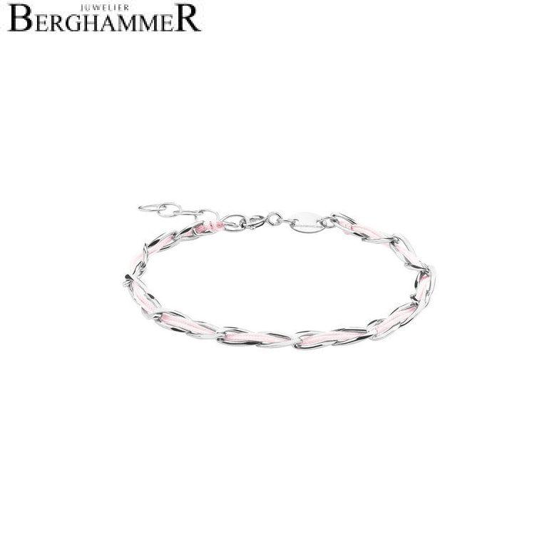 Unico Armband Hellrosa 925 Silber rhodiniert 20200915