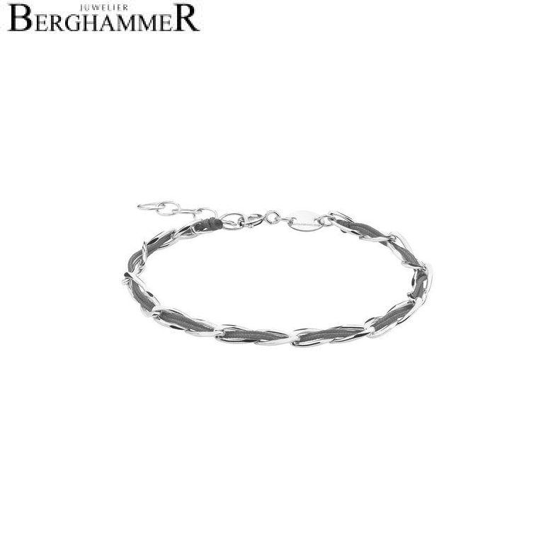 Unico Armband Anthrazit 925 Silber rhodiniert 20200916