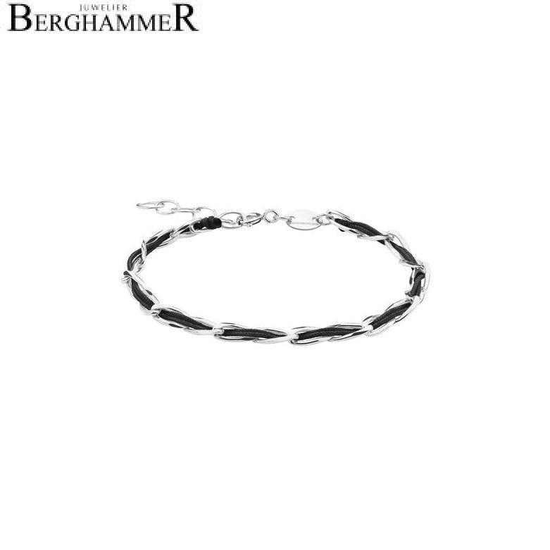 Unico Armband Schwarz 925 Silber rhodiniert 20200917