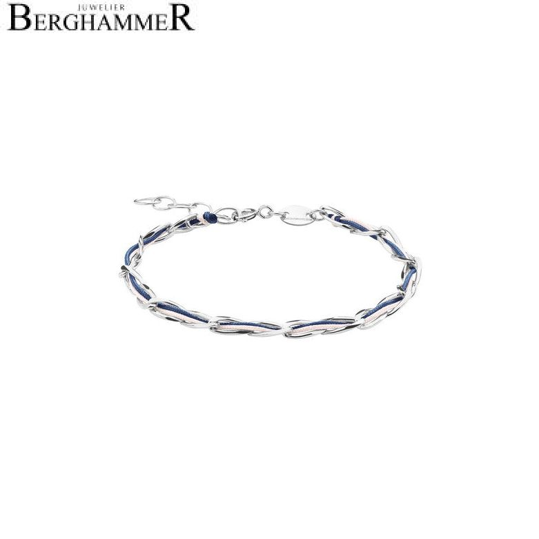 Unico Armband Dunkelblau/Rosa 925 Silber rhodiniert 20200921