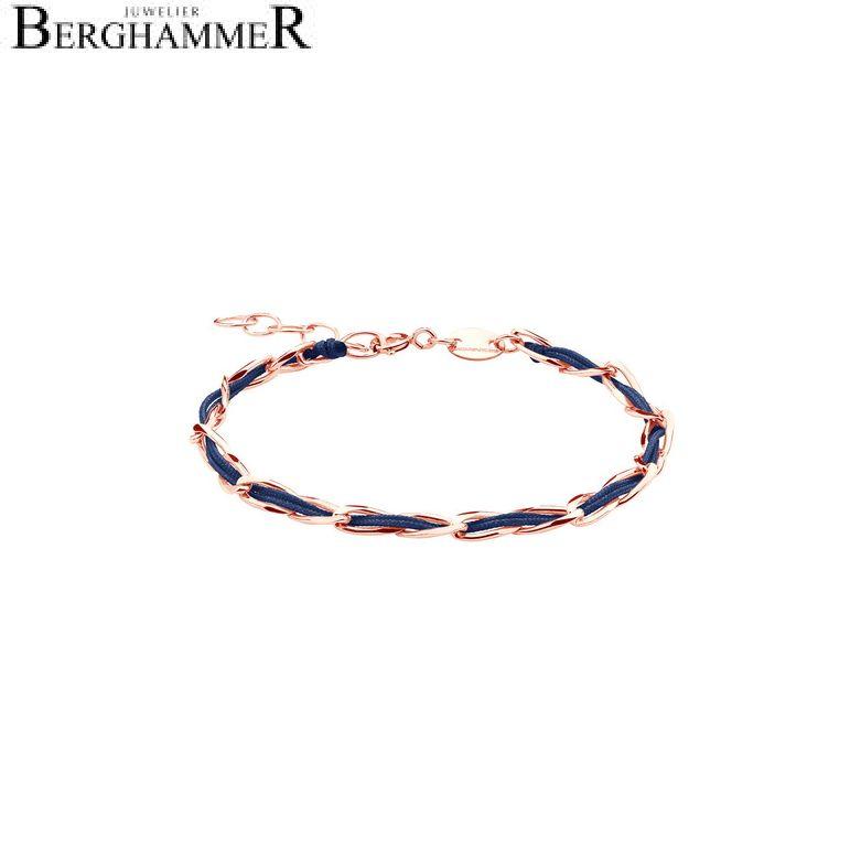 Unico Armband Dunkelblau 925 Silber roségold vergoldet 20200926