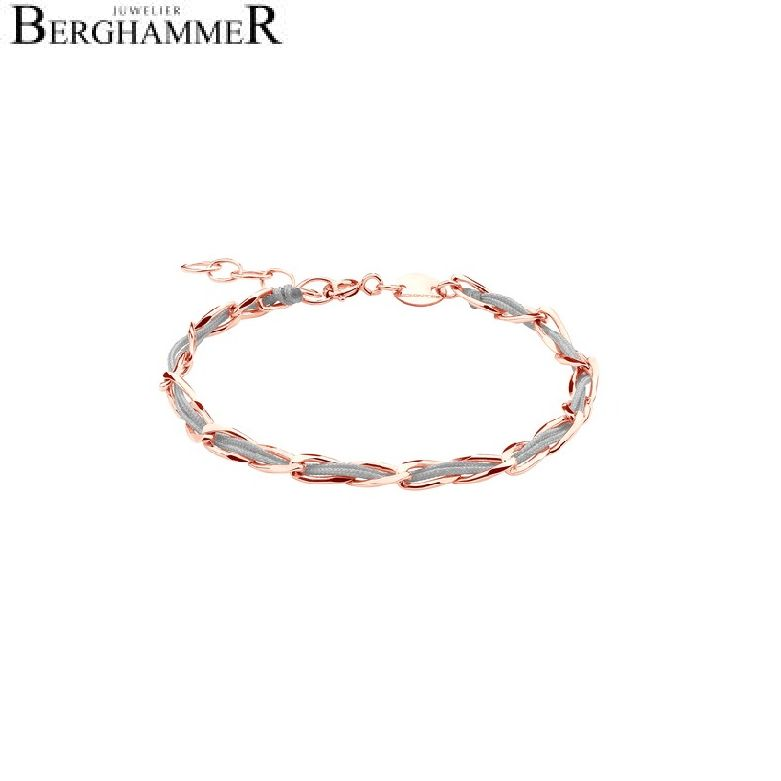 Unico Armband Hellgrau 925 Silber roségold vergoldet 20200927