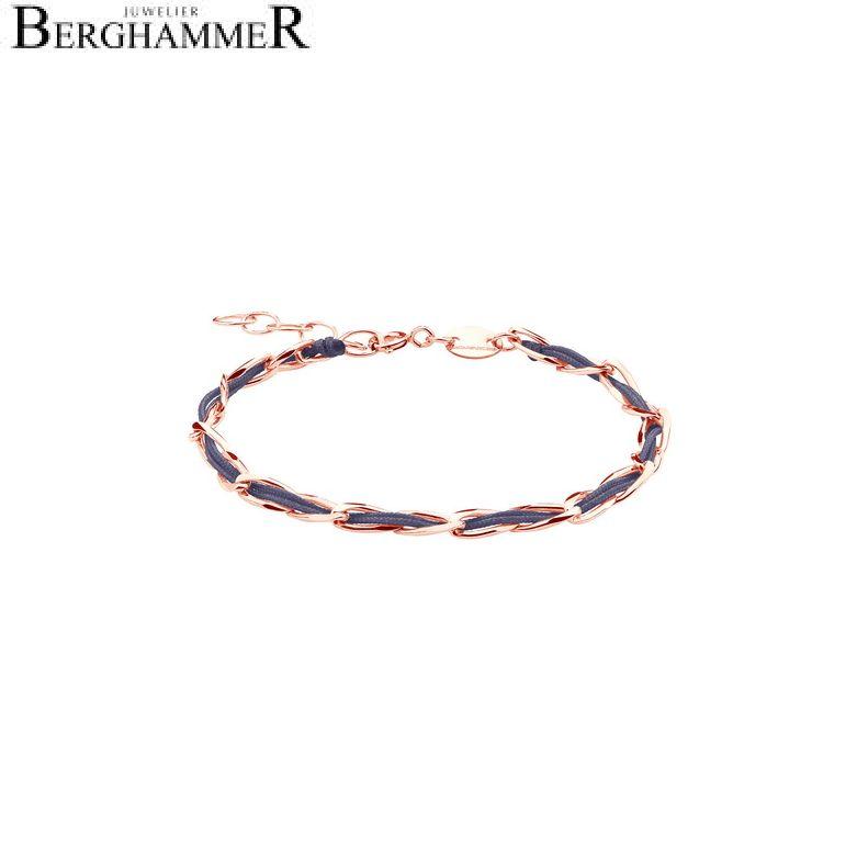 Unico Armband Grau-Lila 925 Silber roségold vergoldet 20200928