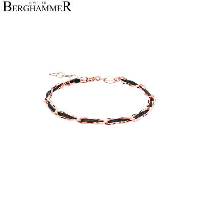 Unico Armband Schwarz 925 Silber roségold vergoldet 20200932
