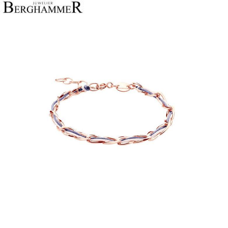 Unico Armband Grau-Lila/Rosa 925 Silber roségold vergoldet 20200934