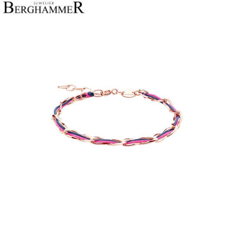 Unico Armband Neon-Pink/Dunkelblau 925 Silber roségold vergoldet 20200936