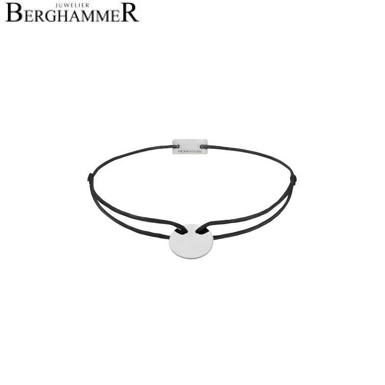 Filo Armband Textil Schwarz 925 Silber rhodiniert 21200002