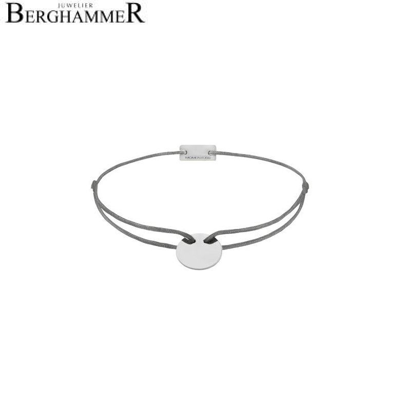 Filo Armband Textil Anthrazit 925 Silber rhodiniert 21200004