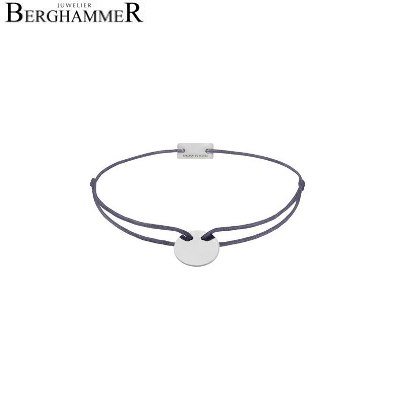Filo Armband Textil Grau-Lila 925 Silber rhodiniert 21200005