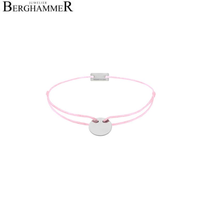 Filo Armband Textil Rosa 925 Silber rhodiniert 21200008