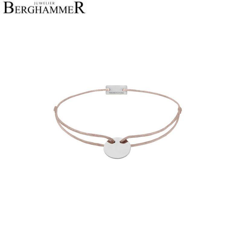 Filo Armband Textil Beige 925 Silber rhodiniert 21200009